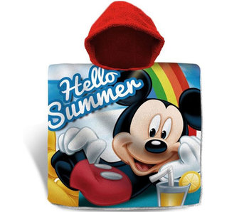 Disney Mickey Mouse Poncho Hello Summer 60 x 120 cm