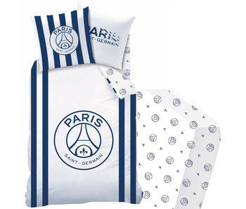 Paris Saint Germain Rayures - Duvet cover - Single - 140 x 200 - Including fitted sheet