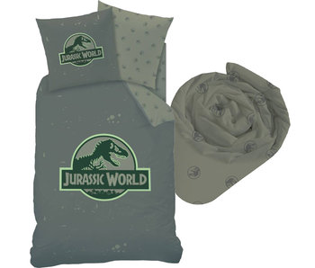 Jurassic World Logo - Housse de couette - Simple - 140 x 200 cm - Multi - Drap housse compris