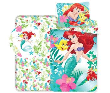 Disney Kleine Zeemeermin Dekbedovertrek Friends - Eenpersoons - 140 x 200 - Multi - Inclusief hoeslaken