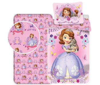 Disney Sofia The First Magic - Bettbezug - Single - 140 x 200 - Rosa - Inklusive Spannbetttuch