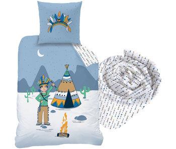 Matt & Rose Petit Indien - Bettbezug - Single - 140 x 200 cm - Multi - Inklusive Spannbetttuch