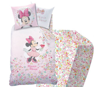 Disney Minnie Mouse Set Housse de couette + drap housse Bloom 140x200 cm