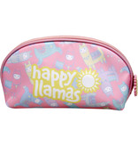 Lama Happy Lama's - Toilettas - 21 x 14 x 5 cm - Multi