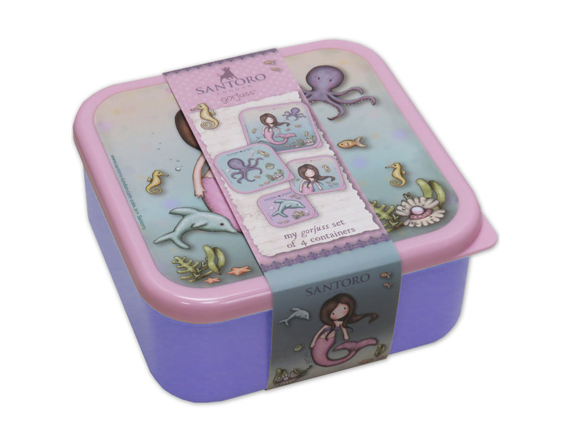 Santoro London  Gorjuss Lunchboxset - 4 delig - Multi