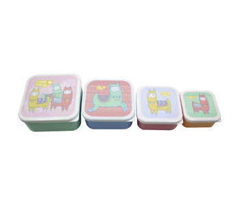 Lama Lunch box set Happy Lama's 4 pieces