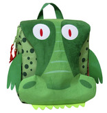 Krokodil Rugzak - 26 x 24 x 10 cm - Groen
