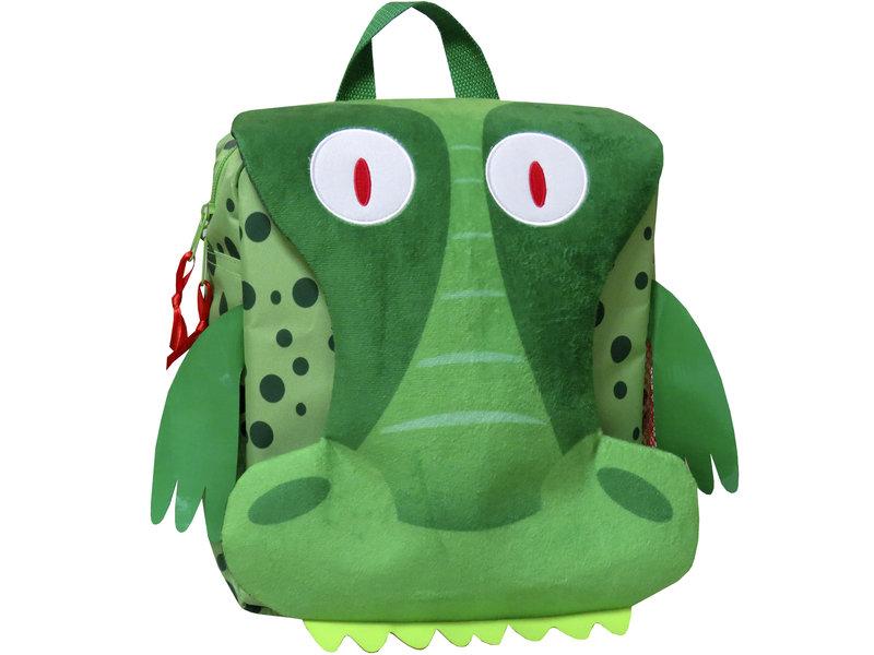 Krokodil Rucksack - 26 x 24 x 10 cm - Grün