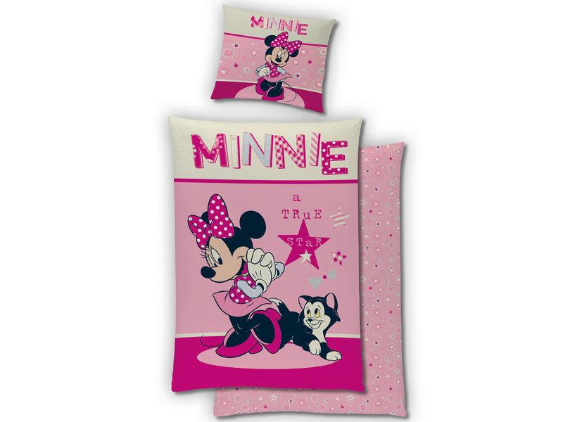 Disney Minnie Mouse Housse de couette - Simple - 140 x 200 cm - Flanelle