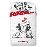 Disney Minnie Mouse Minnie Loves Mickey - Duvet cover - Double - 200 x 200 cm - Multi