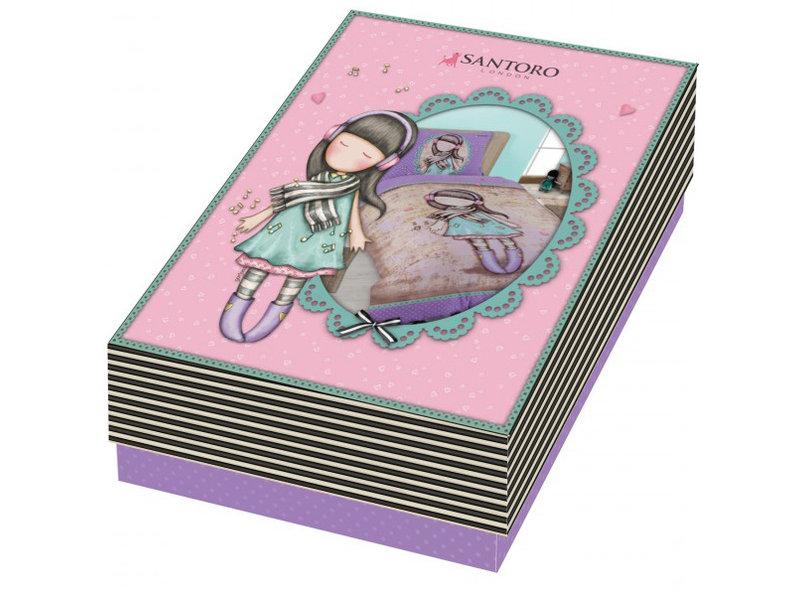 Santoro London  Gorjuss Lost in Music Duvet cover - Single - 140 x 200 cm - Multi