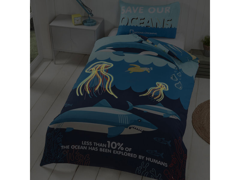 National Geographic Speichern Sie unsere Ozeane - Bettbezug - Single - Polycotton