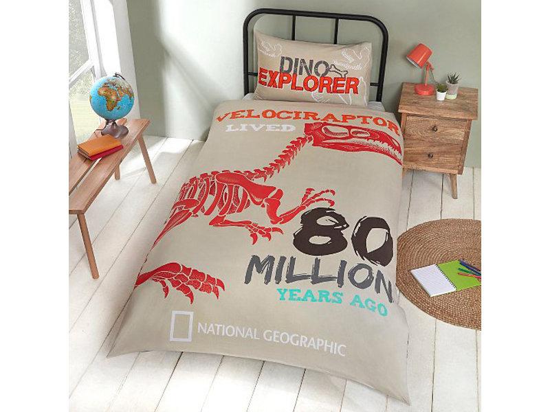 National Geographic Dino Explorer - Dekbedovertrek - Eenpersoons - Polycotton