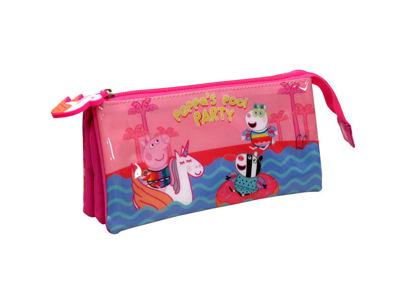 Peppa Pig Etui Pool Party - 22 x 11 x 6 cm - Roze