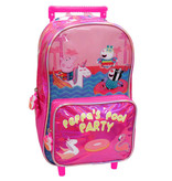 Peppa Pig Backpack Trolley Pool Party - 24 x 39.5 x 7 cm - Pink