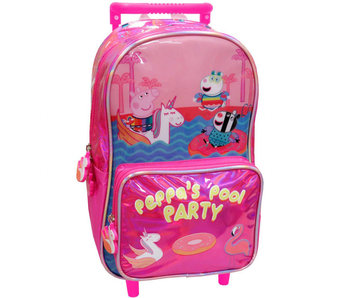 Peppa Pig Rugzak Trolley Pool Party 39 cm