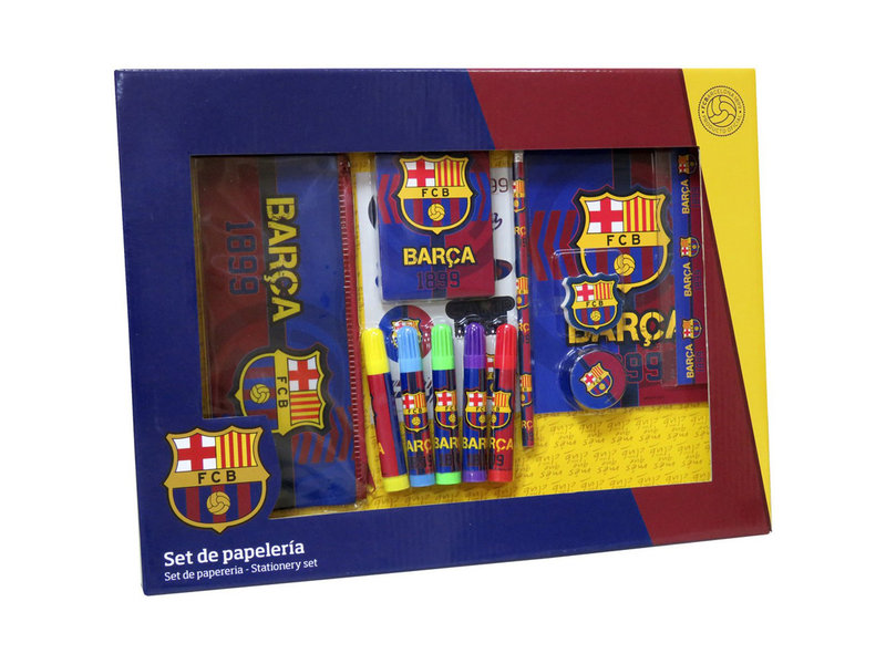 FC Barcelona Desk Set - 20 pieces - 29 x 38 x 3.5 cm - Multi