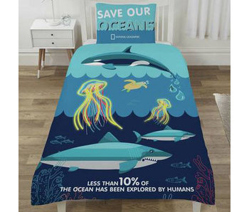 National Geographic Housse de couette Save our Oceans Single