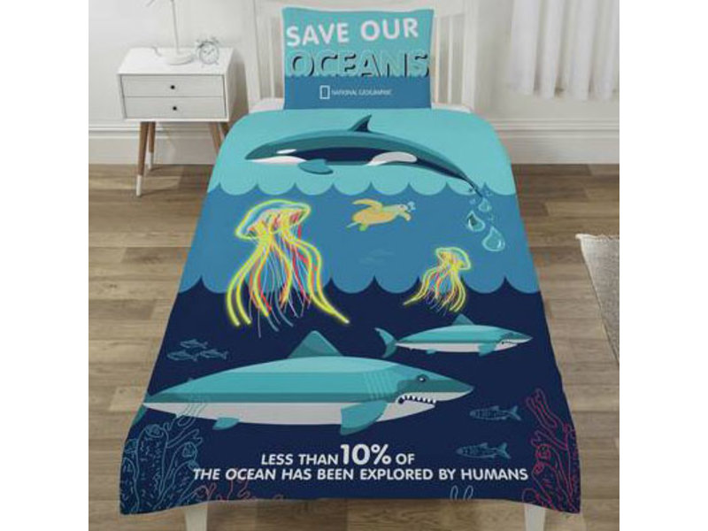 National Geographic Save our Oceans - Duvet cover - Single - Polycotton