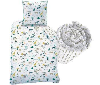 Matt & Rose Safari - Bettbezug + Spannbetttuch - Einzel - 140 x 200 cm