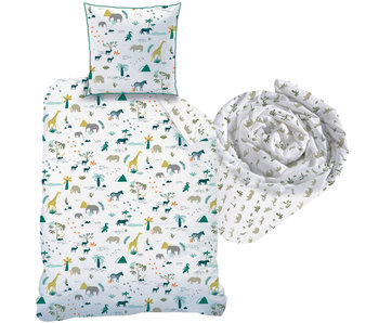 Matt & Rose Safari set duvet cover + fitted sheet Single