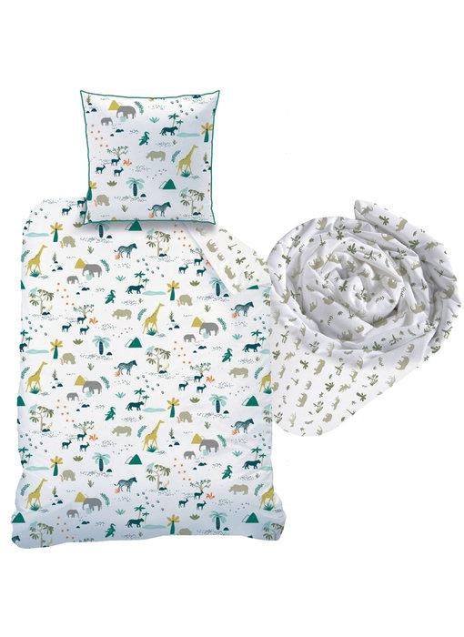 Matt & Rose Safari set duvet cover + fitted sheet Single