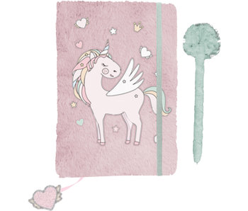 Unicorn Journal de peluche - A5