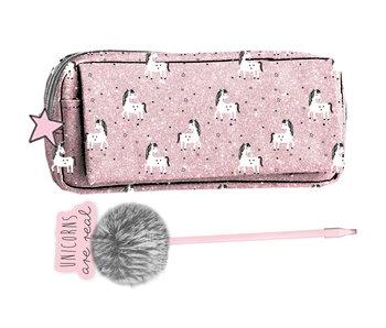 Unicorn Pochette de 21 cm avec stylo - Giftbox