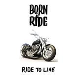 Motor Born to Ride Beach towel - 70 x 140 cm - White