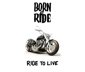 Motor Serviette de plage Born to Ride 70 x 140 cm