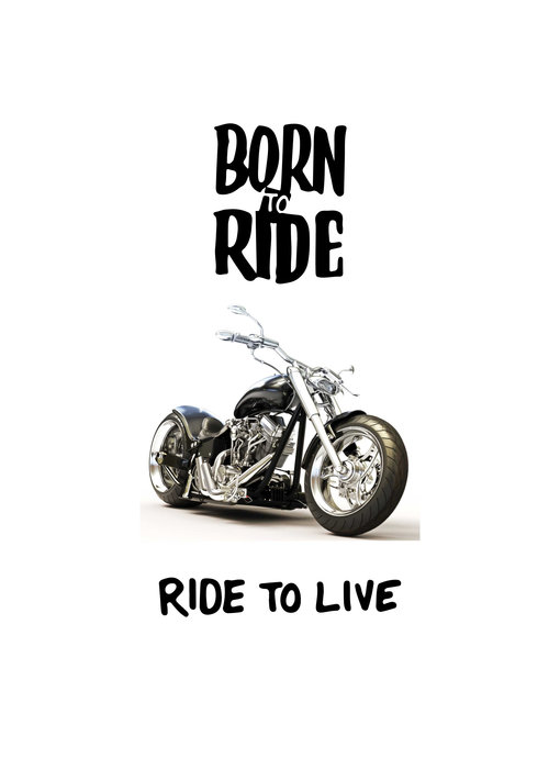 Motor Strandlaken Born to Ride 70 x 140 cm