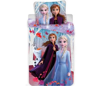 Disney Frozen Enveloppe de couette Feuilles 140 x 200 cm