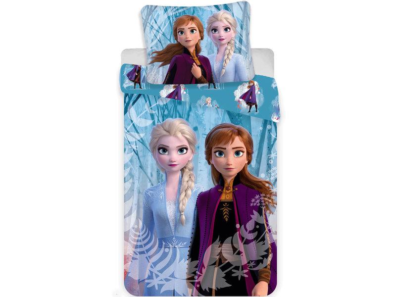 Disney Frozen Snowflake - Duvet cover - Single - 140 x 200 cm - Blue