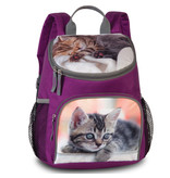 Animal Pictures Toddler backpack Kittens - 30 x 21 x 11 cm - Purple