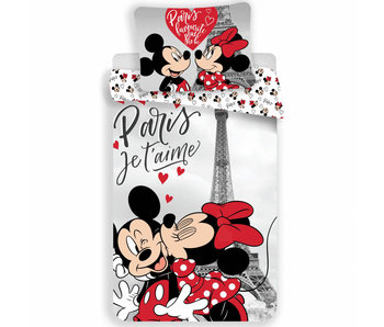 Disney Minnie Mouse Housse de couette Tour Eiffel 140x200 100% Coton