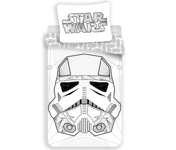 Star Wars Dekbedovertrek White 140 x 200 cm 100% katoen