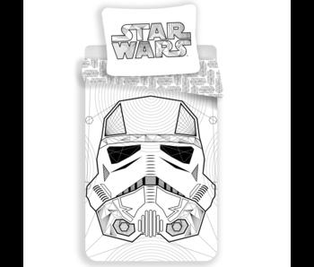Star Wars Housse de couette Blanc 140 x 200 cm 100% coton