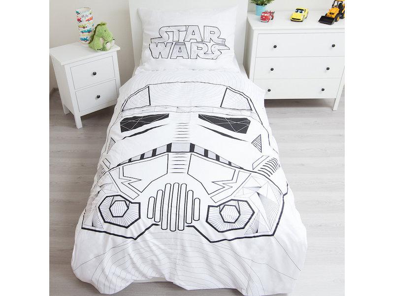 Star Wars White - Duvet cover - Single - 140 x 200 cm - Multi