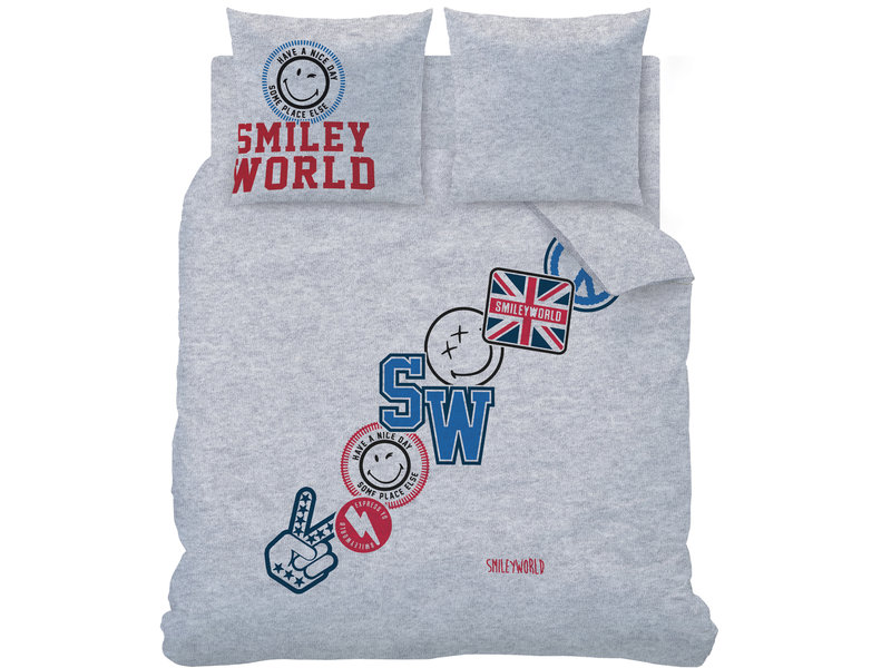 Smiley World Spirit Duvet cover - 200 x 200 cm - Gray