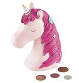 Floss & Rock Unicorn - 3D spaarpot - 15 x 7 cm - roze