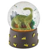 Floss & Rock Dino - sneeuwbol - klein - 9 x 6.5 cm - multi