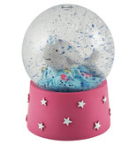 Floss & Rock Narwhal - snow globe - small - 9 x 6.5 cm - multi