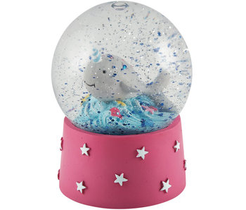 Floss & Rock Snow globe Narwhal small