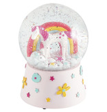 Floss & Rock Unicorn - Snow Globe Music - Large - 14 x 11 cm - Multi