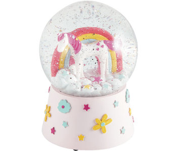 Floss & Rock Snow Globe Music Unicorn Large