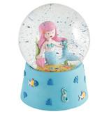 Floss & Rock Sirène - Musique Snow Globe - Grand - 14 x 11 cm - Multi