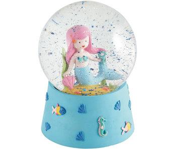 Floss & Rock Schneekugel Musik Meerjungfrau groß