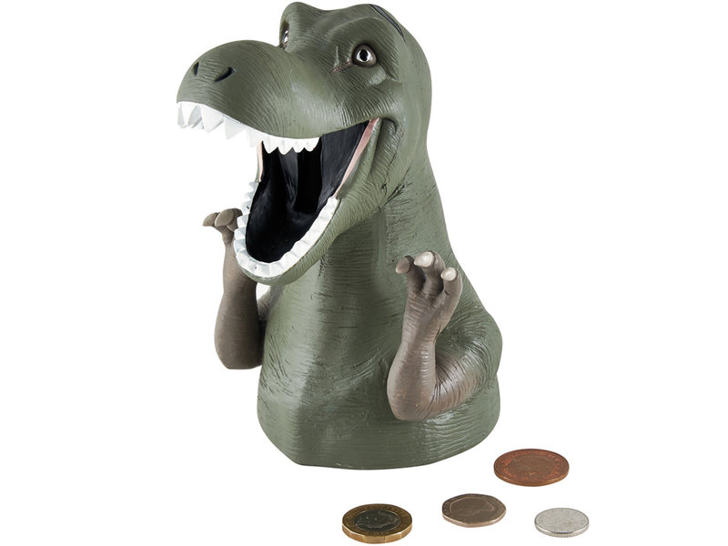 Floss & Rock Dino - 3D money box - 15.5 x 10 cm - green