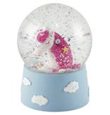 Floss & Rock Licorne - Globe de neige - Petit - 9 x 6,5 cm - Multi