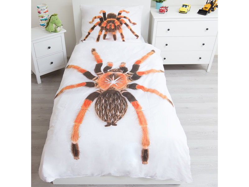 Animal Pictures Spider - Glow in the Dark Duvet cover - Single - 140 x 200 cm - White